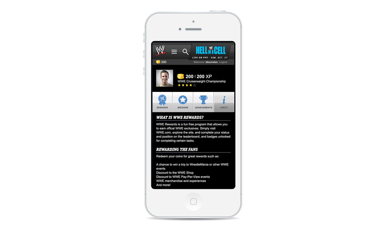 wwe mobile site